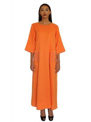 Marchioness Orange Pocket Dress