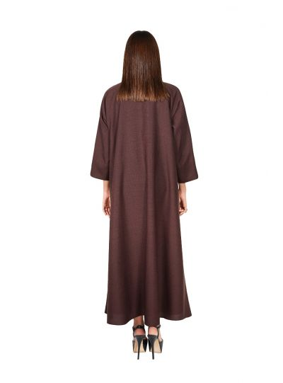 Dark Brown Abaya