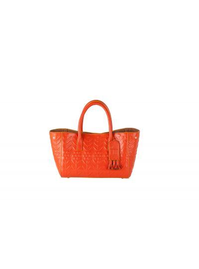 Orange Mini Calfskin