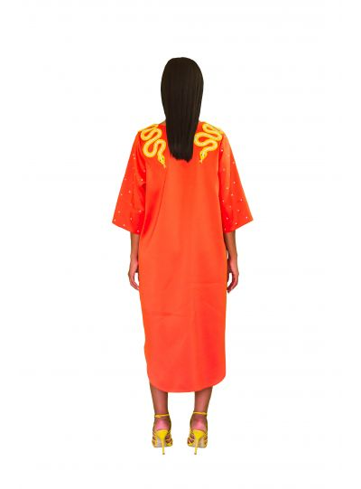 Orange Snake Dress