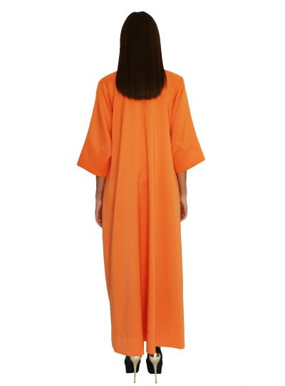 Marchioness Orange Pocket Dress