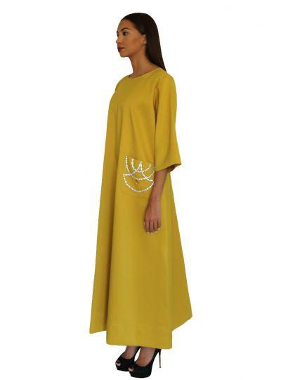 Queen Yellow Pocket Dress